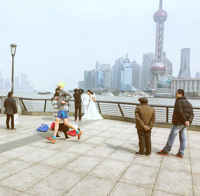Running in Shanghai