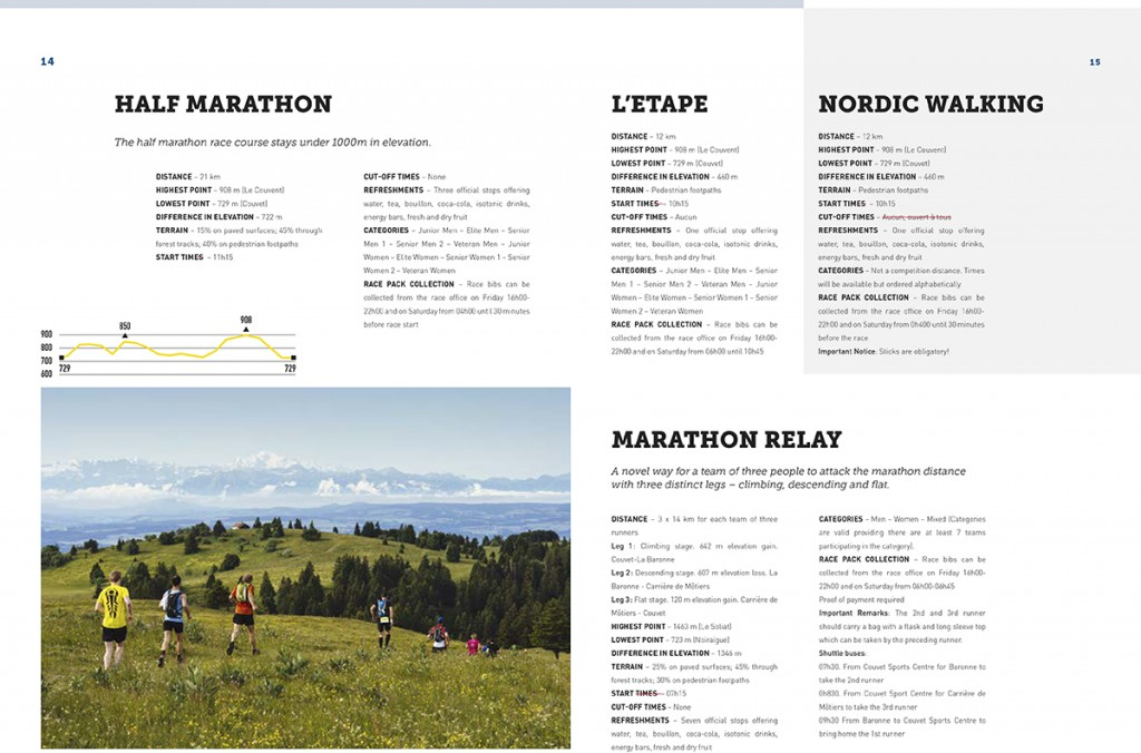 Spread from 2017 Trail de l'Absinthe Information Kit