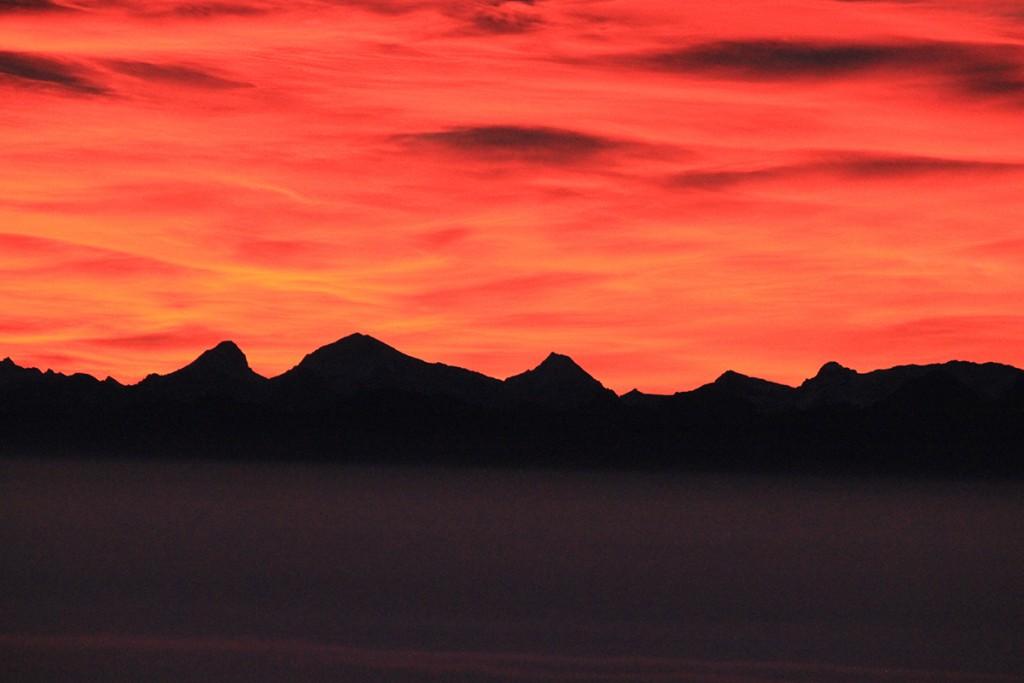 Swiss Alps. Photo: Peter Bourne